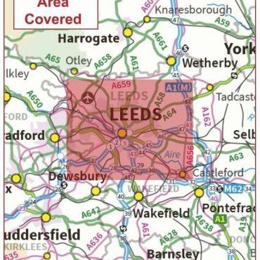Postcode City Sector Map - Leeds - Coverage