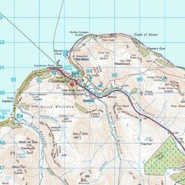 Isle of Arran Map - Detail