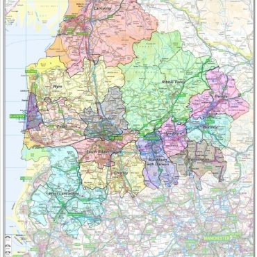 Lancashire County Boundary Map - Overview