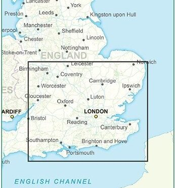 Postcode District Map 8 - South East England - Colour - Coverage