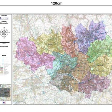 Greater Manchester District Administration Map - Dimensions