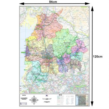 Lancashire County Boundary Map - Dimensions