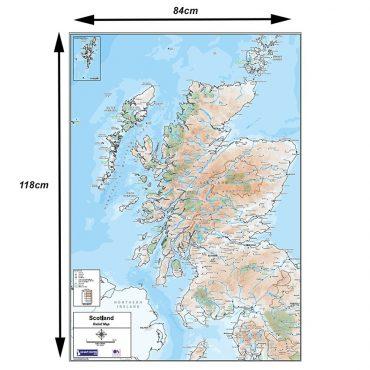 Relief Map 2 - Scotland - Colour - Dimensions