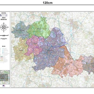 West Midlands District Administration Map - Dimensions