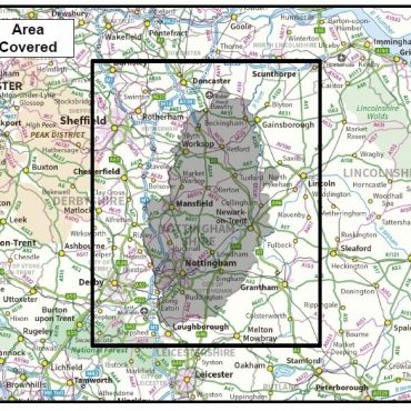 Nottinghamshire County Boundary Map - Cover