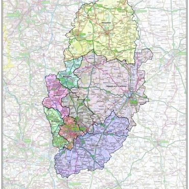 Nottinghamshire County Boundary Map - Overview