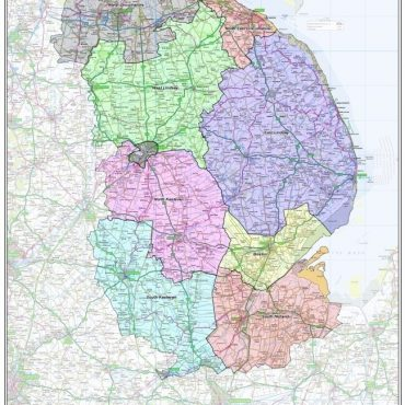 Lincolnshire County Boundary Map - Overview