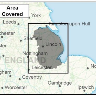 Lincolnshire County Boundary Map - Coverage
