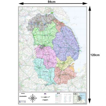 Lincolnshire County Boundary Map - Dimensions