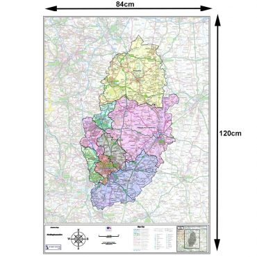 Nottinghamshire County Boundary Map - Dimensions