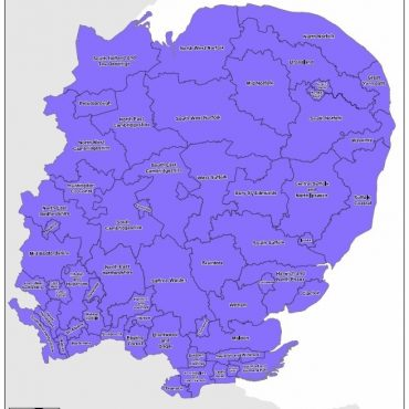 Regional UK Parliamentary Maps - East of England Overview