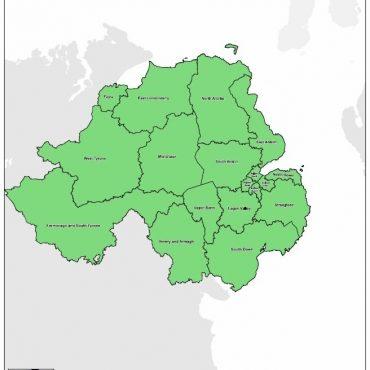 Regional UK Parliamentary Maps - Northern Ireland Overview