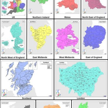 Regional UK Parliamentary Maps - Full Series 12 A0 Maps Overview
