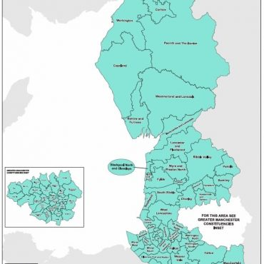 Regional UK Parliamentary Maps - North West of England Overview