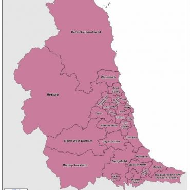 Regional UK Parliamentary Maps - North East of England Overview