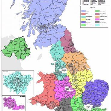 Regional UK Parliamentary Maps - Full UK Overview