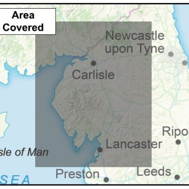 Cumbria County Boundary Map - Coverage