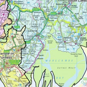 Cumbria County Boundary Map - Detail