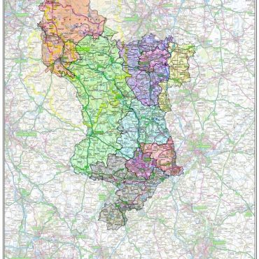 Derbyshire County Boundary Map - Overview