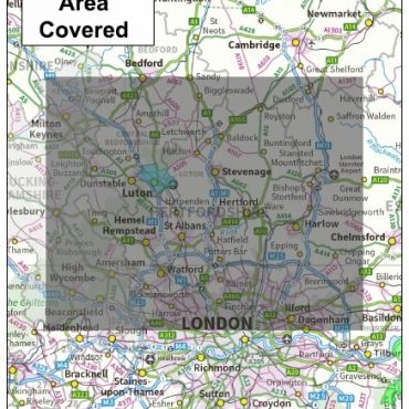 Hertfordshire County Boundary Map - Coverage