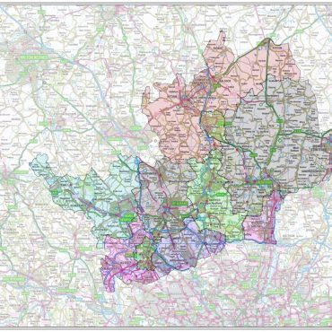 Hertfordshire County Boundary Map - Overview