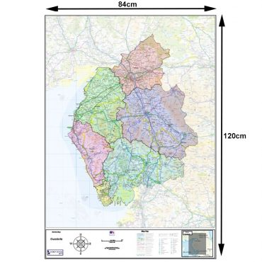 Cumbria County Boundary Map - Dimensions