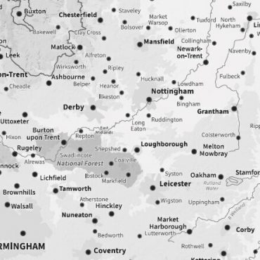 Relief Map 7 - Full UK - Greyscale - Detail