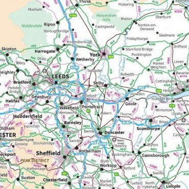 Travel Map 7 - Full UK - Colour - Detail