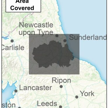County Durham Boundary Map - Coverage