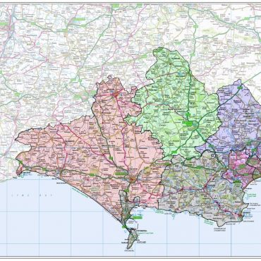 Dorset County Boundary Map - Overview