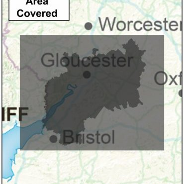 Gloucestershire County Boundary Map - Coverage