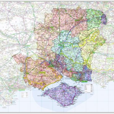 Hampshire and Isle of Wight County Boundary Map - Overview