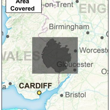 Herefordshire County Boundary Map - Coverage