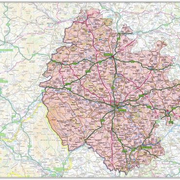 Herefordshire County Boundary Map - Overview