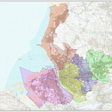 Merseyside County Boundary Map - Overview