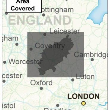 Northamptonshire County Boundary Map - Coverage