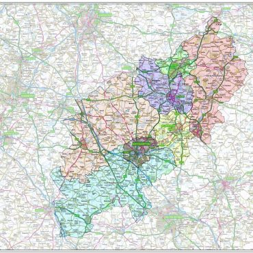 Northamptonshire County Boundary Map - Overview