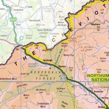 Northumberland County Boundary Map - Detail