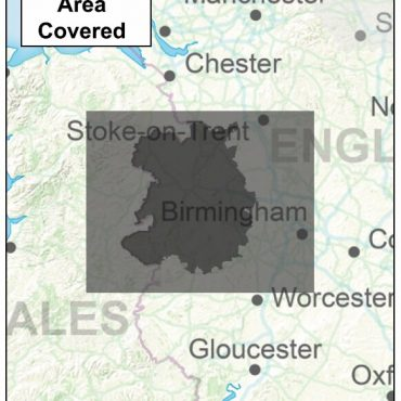 Shropshire County Boundary Map - Coverage