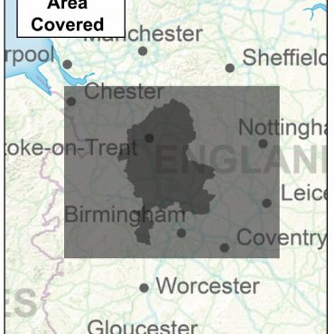 Staffordshire County Boundary Map - Coverage