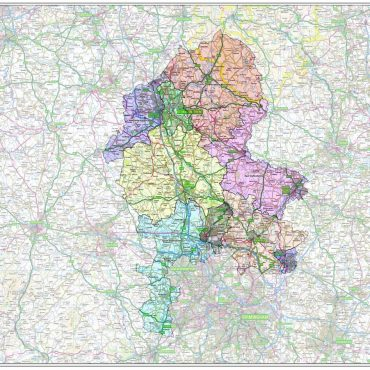 Staffordshire County Boundary Map - Overview