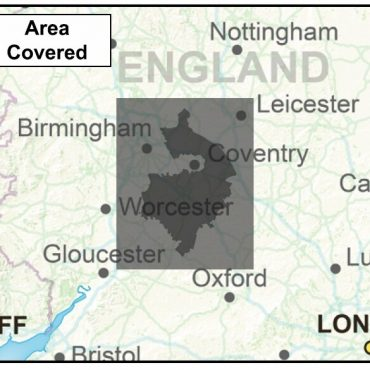 Warwickshire County Boundary Map - Coverage