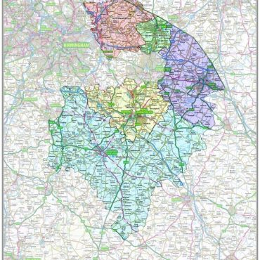 Warwickshire County Boundary Map - Overview