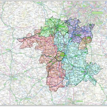 Wiltshire County Boundary Map - Overview