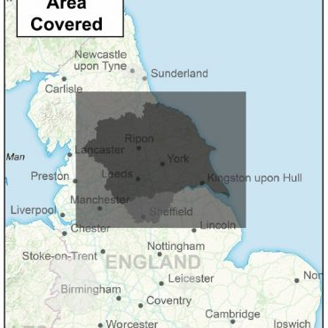 Yorkshire Counties Boundary Map - Coverage