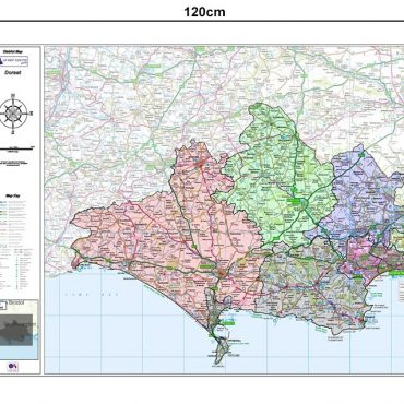 Dorset County Boundary Map - Dimensions