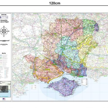 Hampshire and Isle of Wight County Boundary Map - Dimensions