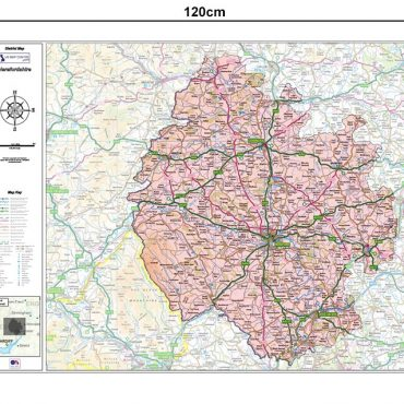 Herefordshire County Boundary Map - Dimensions