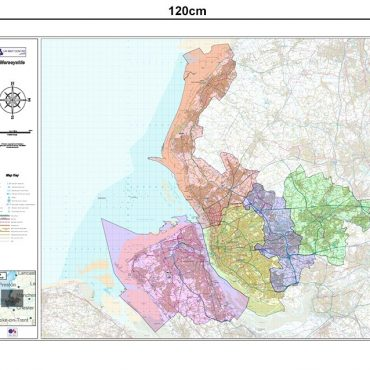Merseyside County Boundary Map - Dimensions