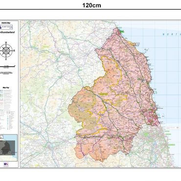 Northumberland County Boundary Map - Dimensions